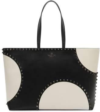 Valentino Rockstud Large Dot Leather Tote
