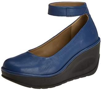 Fly London Women's Jynx877Fly Ankle Strap Heels, (Blue), 37 EU