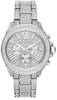 Michael Kors Wren Crystal Pave Stainless Steel Chronograph