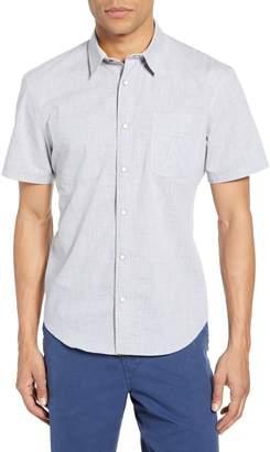 Billy Reid Stripe Snap Front Sport Shirt