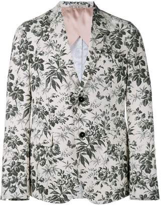 Gucci tailored floral blazer