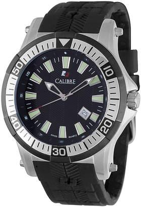 Calibre 45mm Men's Rubber Hawk Watch, Silver