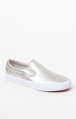 Vans Women's Metallic Slip-On Sneakers $60 thestylecure.com