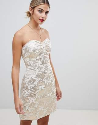Glamorous strapless jacquard dress