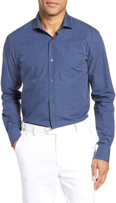 Ted Baker Endurance Tidies Trim Fit Print Dress Shirt