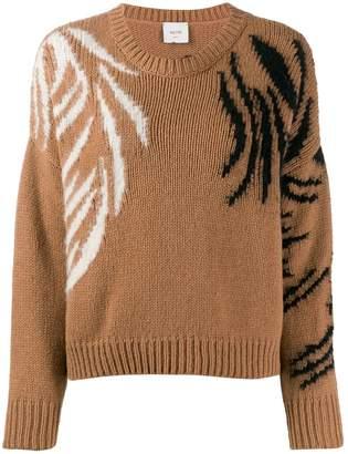 Alysi embroidered detail sweaterlong sleeve
