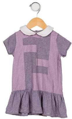 Fendi Girls' Striped Printed Dress