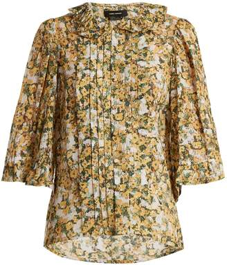 Isabel Marant Feneth ruffled-collar floral-print top