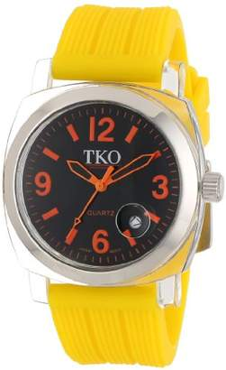 TKO ORLOGI Women's TK558-OY Milano Junior Acrylic Case Orange Dial Watch