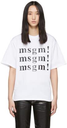 MSGM SSENSE Exclusive White T-Shirt