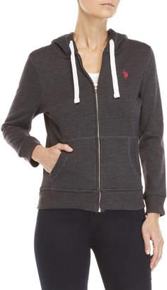 U.S. Polo Assn. Basic Zip-Up Fleece Hoodie