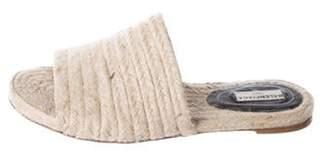 Balenciaga Jute Slide Sandals Tan Jute Slide Sandals