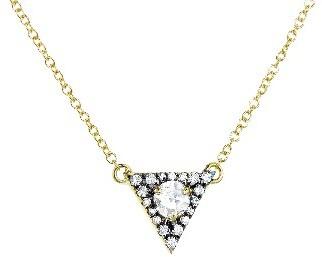 Jemma Wynne Rose Cut Diamond Triangle Pendant - Yellow Gold