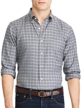 Ralph Lauren Men's Plaid Cotton Button-Down Shirt