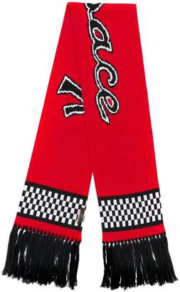 Versace team logo knit scarf