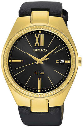 Seiko Womens Black Strap Watch-Sne876