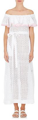 Lisa Marie Fernandez Women's Cotton Eyelet Maxi Dress $830 thestylecure.com