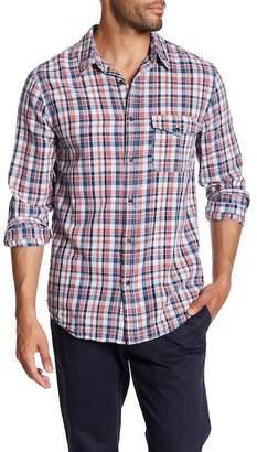 Save Khaki Long Sleeve Madras Classic Fit Work Shirt