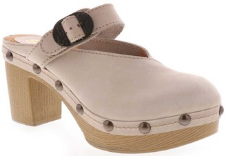 Sbicca Leather Buckle Clogs - Jelina