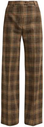 Acne Studios Prince-of-Wales check wool-blend trousers