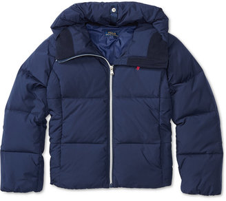 Ralph Lauren Insulated Hooded Jacket, Big Girls (7-16) $175 thestylecure.com