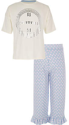 River Island Girls White 'couture' T-shirt outfit