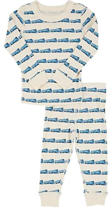 Skylar Luna Train-Print Cotton Pajama Set