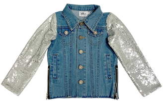 21148de3b4f Lola   the Boys Emoji Sequin Denim Jacket