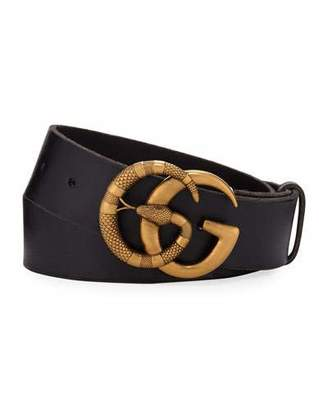 0a2122db8 Gucci Men's Cuoio Toscano Snake GG Belt