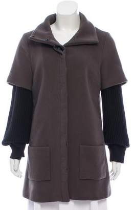 Loeffler Randall Wool High Neck Coat