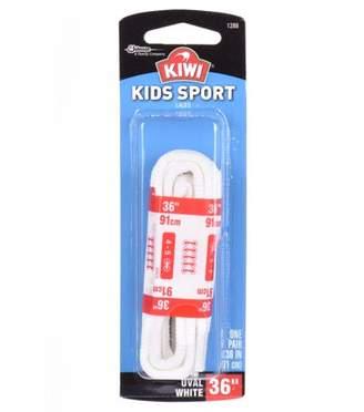 "Kiwi Kids Sport Oval Laces White 36"" 2 pairs"