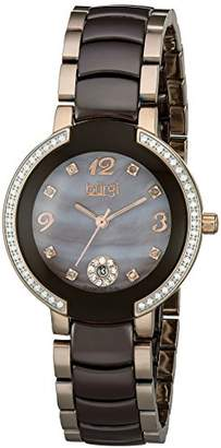 Burgi Women's BUR072RGBR Analog Display Japanese Quartz Two Tone Watch