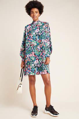 WHIT Tamara Floral Mock Neck Tunic