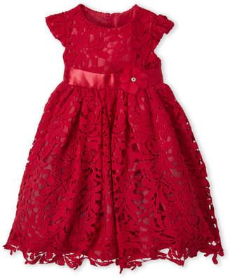 Princess Faith (Girls 4-6x) Red Lace Cap Sleeve Dress