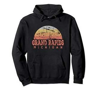 Grand Rapids Michigan Vintage Retro Sunset Hoodie