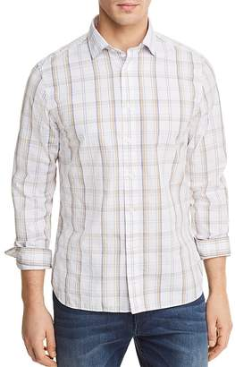 Bloomingdale's The Men's Store at Plaid Long Sleeve Button-Down Shirt