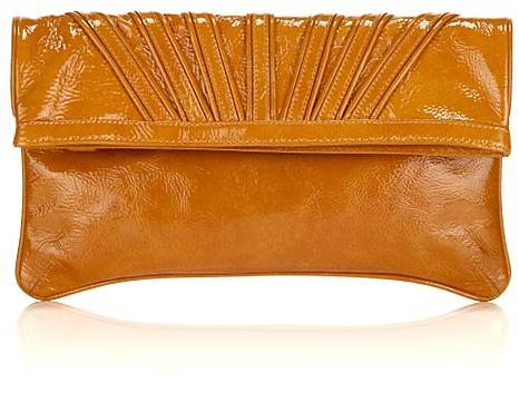 Goldenbleu Patent Leather Fold-Over Clutch