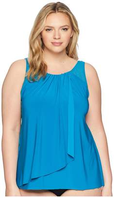 Miraclesuit Plus Size Solid Mariella Top Women's Swimwear