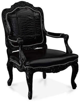 Ralph Lauren Home Indian Cove Accent Chair - Ebony Leather