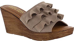 Bella Vita Suede Leather Wedge Sandals - Bey-Italy