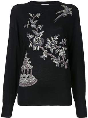 MS MIN floral pattern jumper