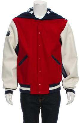Opening Ceremony Wool & Leather Varsity Jacket