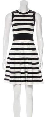 Milly Striped Sleeveless A-Line Dress