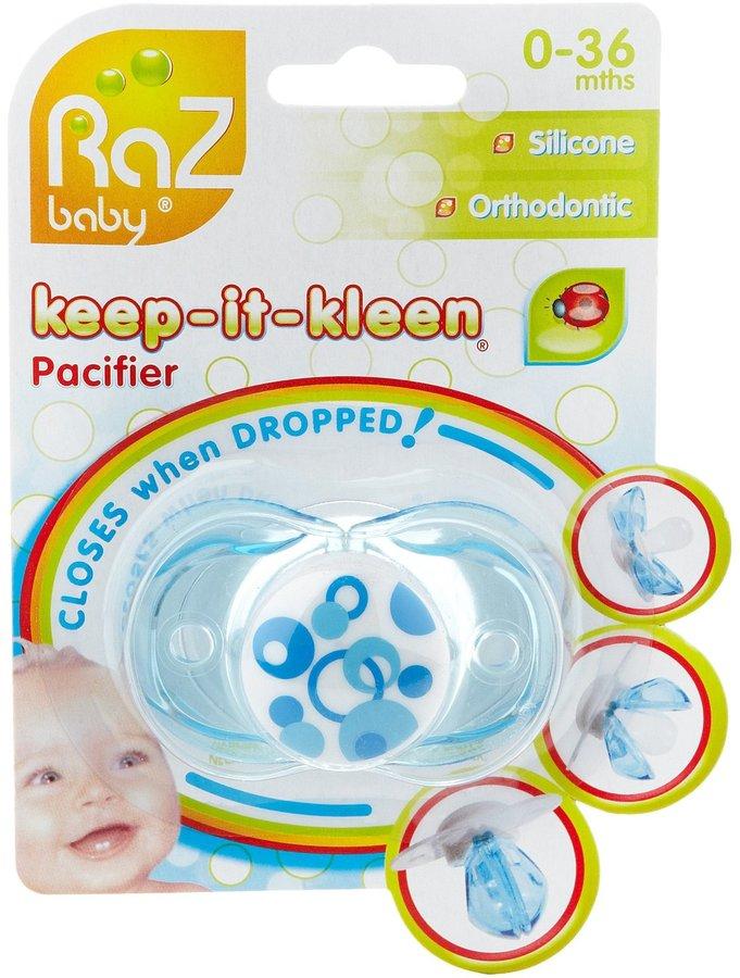 Razbaby Keep - It - Kleen Pacifier - Blue Circles
