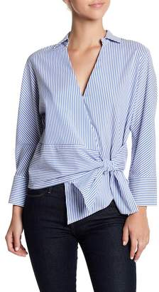 Lucy Paris Side Tie Striped Blouse
