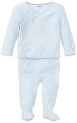 Ralph Lauren Boys' Terry Knit Shirt & Footie Pants Set - Baby