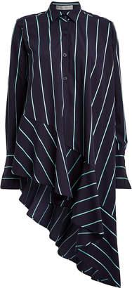 Palmer Harding Palmer//Harding Spicy Asymmetrical Ruffled Poplin Shirt