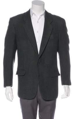 Pierre Balmain Tweed Two-Button Blazer olive Tweed Two-Button Blazer