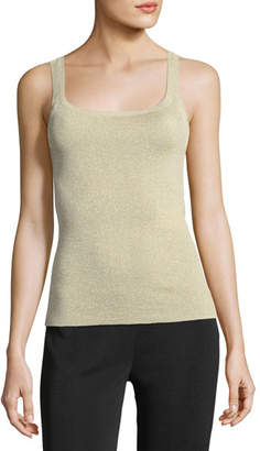 Max Mara Metallic Knit Tank Top