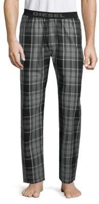Diesel Plaid Cotton Pajama Pants